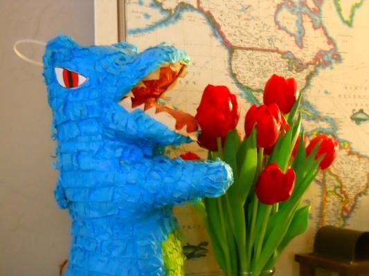 Godzilla vs. Tulips