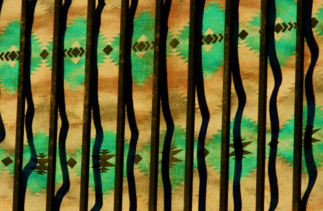 Indian Blanket Behind Bars