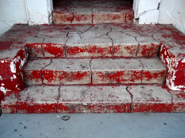 Faded Red Stairs