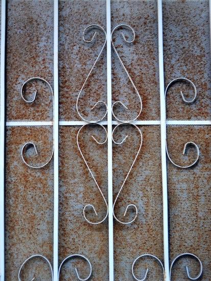Rusted Screen Door
